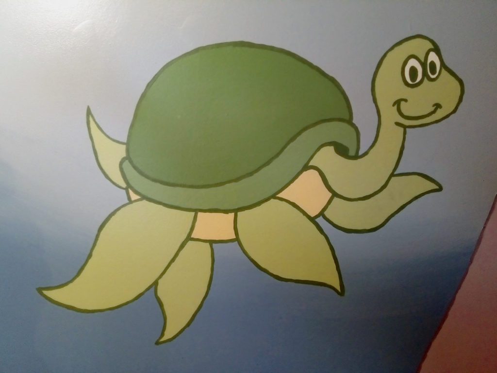children's room mural turtle