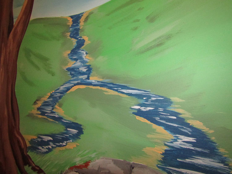 fantasy mural river