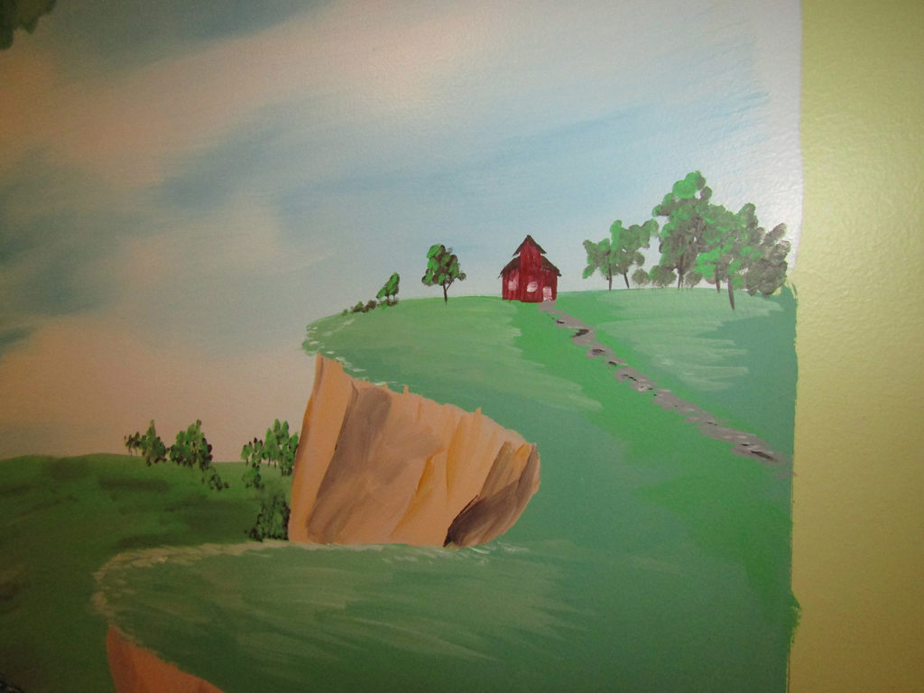 fantasy mural schoolhouse