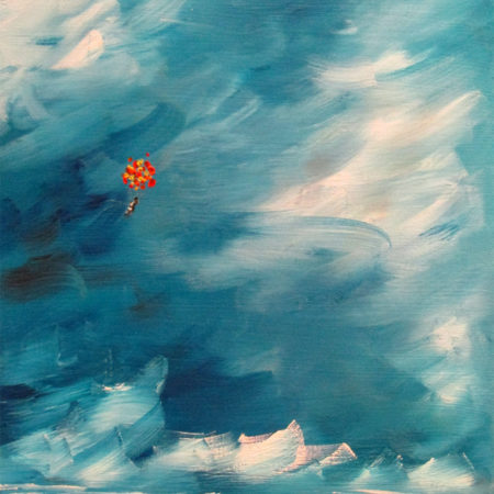 oil painting abstract adventure balloons