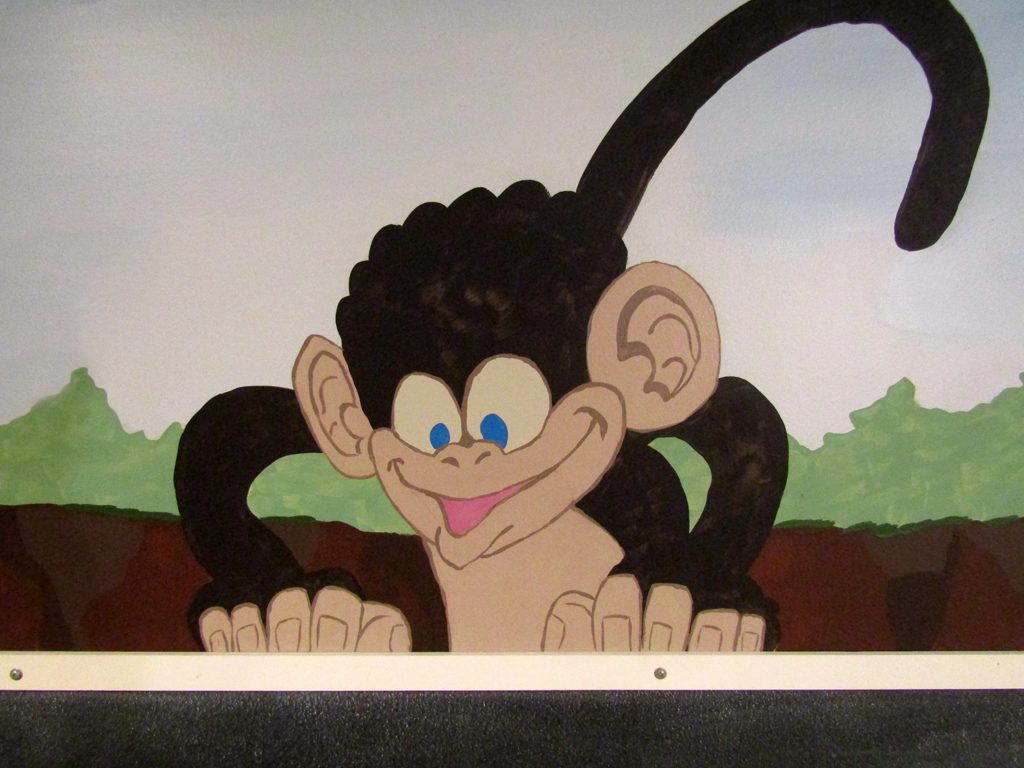 monkey jungle mural for kids playroom