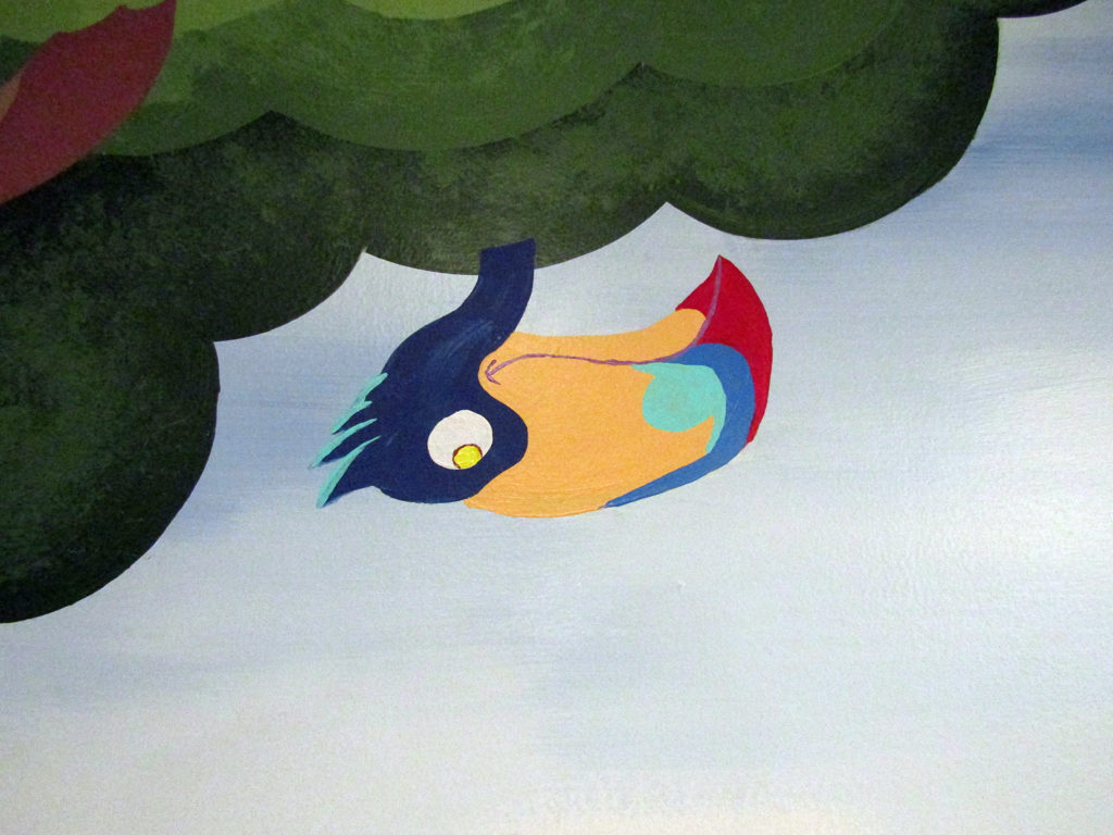 jungle toucan in mural