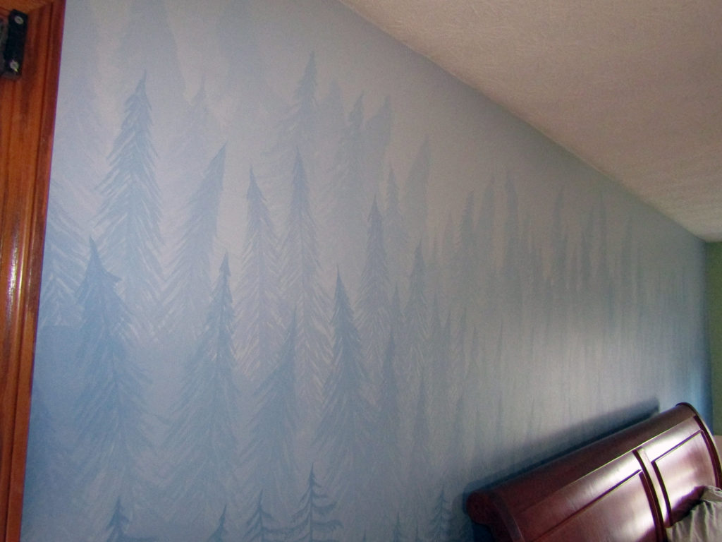 calm bedroom mural