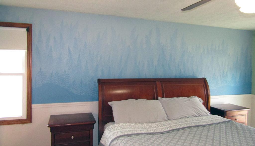 bedroom mural adult forest